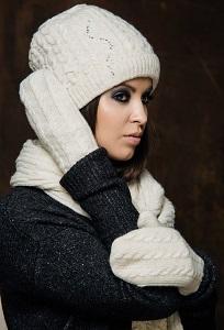 Комплект (шапка+шарф+варежки) SuperShapka Вики