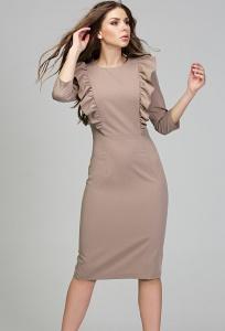 Платье-футляр из костюмной ткани Donna Saggia DSP-295-25