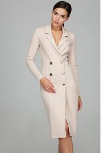 Женское двубортное платье футляр Donna Saggia DSP-233-45t