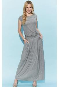 Длинная трикотажная юбка серого цвета Zaps Borita