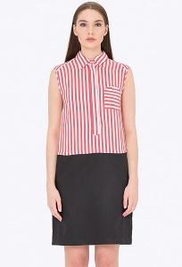 Двухцветное платье-рубашка Emka PL-645/elton