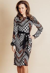 Трикотажное платье TopDesign B6 031