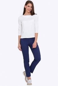 Тёмно-синие женские брюки Emka D-020/kariba