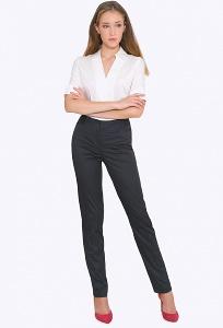 Женские тёмно-синие брюки со средней посадкой Emka D-002/grizelda