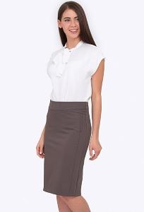 Стильная юбка цвета какао Emka 678/nimfa