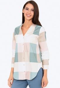 Стильная женская рубашка в крупную клетку Emka b 2218/izaura