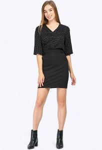 Чёрная короткая юбка Emka S778/binazir