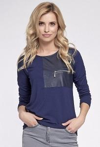 Молодёжная блузка тёмно-синего цвета Sunwear O17-5-30
