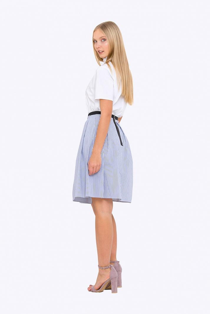 Летняя юбка в полоску фото