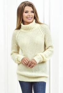 Женский свитер молочного цвета Andovers Z284