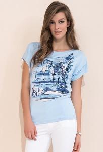 Синяя блузка свободного кроя Zaps Safona