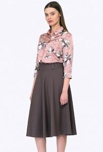 Женская юбка цвета мокко Emka Юбка S505/selena