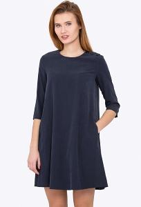 Тёмно-синее платье Emka Fashion PL-468/darsiya