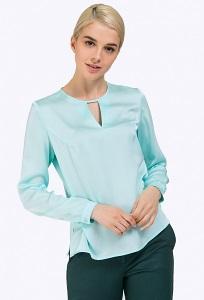 Блузка с коротким рукавом мятного цвета Emka Блузка B2263/groove