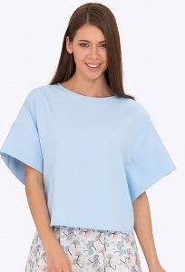 Укороченная блузка с широким рукавом Emka b 2202/lupine