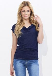 Тёмно-синяя блузка Zaps Mola