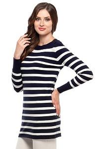 Туника в сине-белую полоску Conso Wear KWJM160703