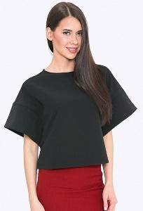 Чёрная блузка с широкими рукавами Emka B2202/premiera