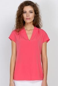 Коралловая блузка Emka Fashion b 2164/shirli