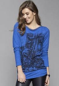 Женская туника синего цвета с принтом Zaps Linda