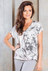 Летняя блузка с V-вырезом TopDesign A7 093