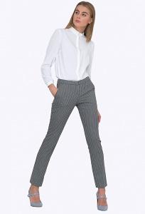 Женские брюки в вертикальную полоску Emka D051/woodi