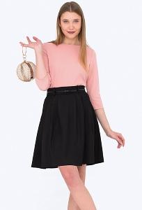 Чёрная юбка с мягкими складками Emka 322/agrafena