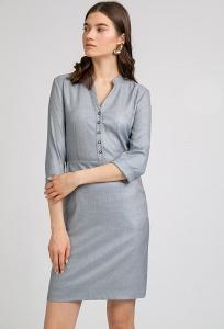 Короткое платье в мелкую сетчатую клетку Emka PL794/devika