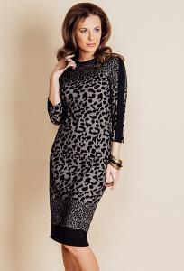 Облегающее платье леопардовой расцветки TopDesign B6 105