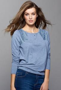 Блузка с кружевными вставками Emka Sona