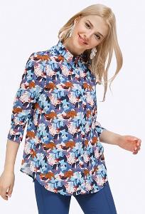 Женская рубашка Emka Fashion B2198/crocus