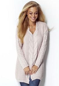 Удлиненный свитер с V образным вырезом Fimfi I301