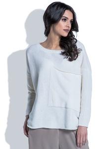 Шерстяной свитер с большим карманом Fobya F403