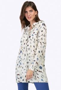 Длинная блузка с рубашечным воротом Emka B2257/seintilla