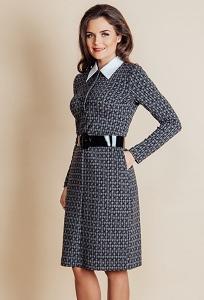 Платье с воротничком TopDesign B6 030