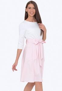 Летняя юбка розового цвета Emka Fashion 247/djuana