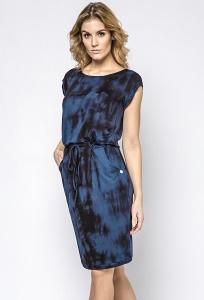Летнее черно-синее платье из трикотажа Enny 230127