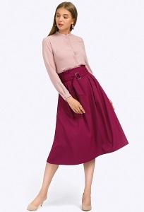 Фиолетовая юбка-миди с завышенной талией Emka S702/fresca