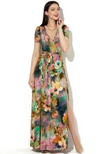 Длинное трикотажное платье Donna Saggia DSP-33-68t