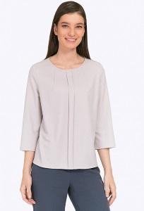 Светло-серая блузка из поливискозы Emka B2288/nine