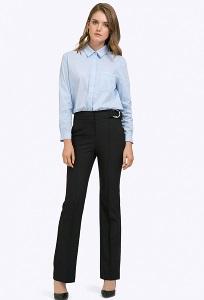 Чёрные брюки с высокой посадкой Emka D085/tartina