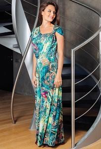 Длинное летнее платье TopDesign Premium PA7 08