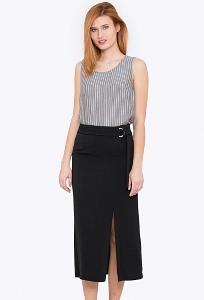 Чёрная юбка с разрезом спереди Emka 693/amanda