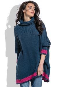 Стильный свободный свитер oversize Fobya F469