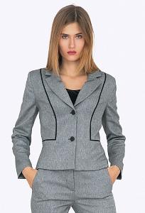 Женский офисный жакет серого цвета Emka ML541/denara