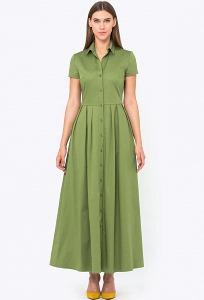 Платье рубашка с длиной макси Emka PL-622/fotain