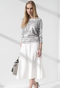 Длинная юбка-клеш белого цвета Sunwear IC406-4-08