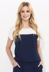 Двухцветная блузка в морском стиле Zaps Miray