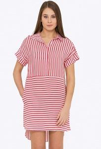 Летнее платье в красно-белую полоску Emka PL-508/elton
