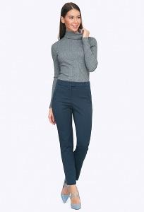 Утепленные брюки тёмно-синего цвета Emka D020/kravitz